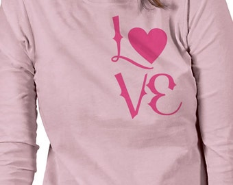Love Women Custom Long Sleeve shirt