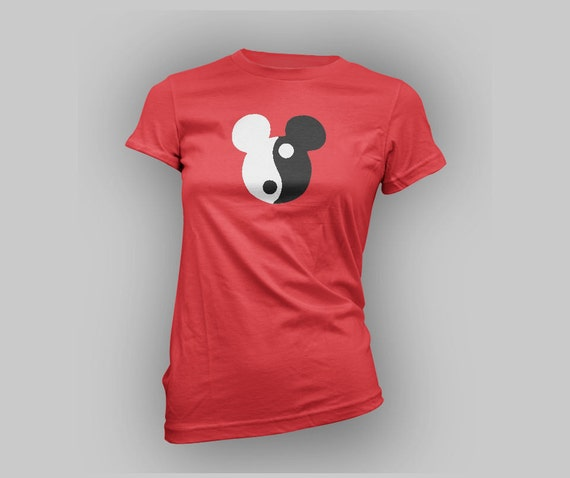 custom Ying Yang Mickey mouse womens shirt