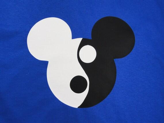 Custom Ying Yang Mickey mouse mens shirt