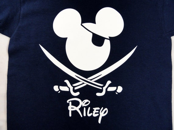 Custom Pirate Mouse Ears Personalized or Birthday Shirt