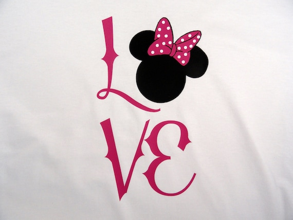 Personalized Mouse Ears With Bow women custom shirt