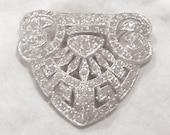 Rhinestone Encrusted Vintage Scarf Clip