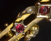 Brooch, Victorian, Ruby & gold, Downton Abbey, Anniversary.