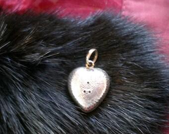 Pendant, Silver, Valentine heart, antique.