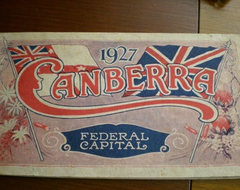 1927 book of photographs of Canberra Australia