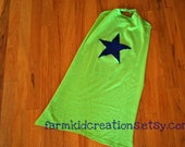 Super Hero Cape - Green with Blue Star