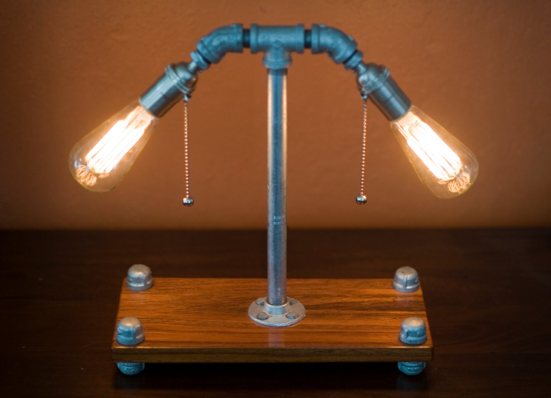 Galvanized Metal Pipe Lamp Handmade