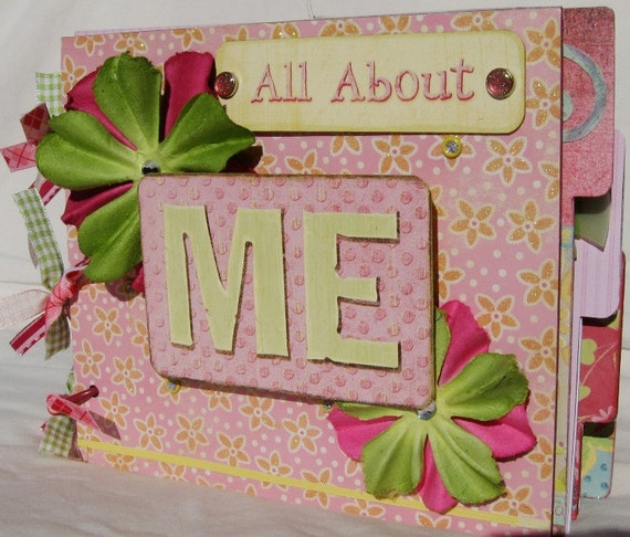 All About Me Scrapbook Photo Album Sturdy Chipboard