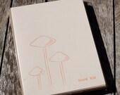 Letterpress Mushroom Thank You Cards