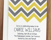 Custom Printable: Chevron Baby Shower Invitation