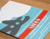 Custom Printable: Airplane Birthday Invitation