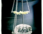 Chase the Green Fairy  - Peridot & Sterling Necklace