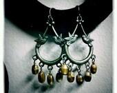 Love Birds - Czech Glass Earrings