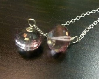 Rosé  -  Pink Quartz and Silver Dangles Valentine Sweet Heart