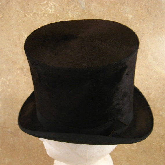 Antique Tall Top Hat Size 6 7/8  M. P. Root Hatter Columbia PA