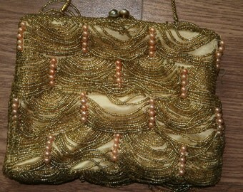Beaded vintage clutch bag