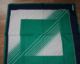 Vintage geometirc print headscarf (F2)