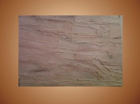 Original Painting White Cream Texture Acrylic