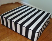floor pillow cushion moden and chic floor pillow in black and white.