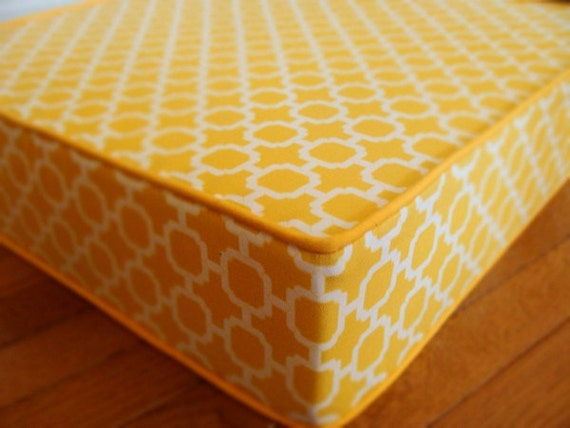 floor cushion modern and unique chicindoor outdoor floor pillow  geometric yellow  pattern