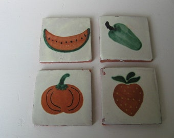 Pepper Pumpkin Watermelon Strawberry Tiles