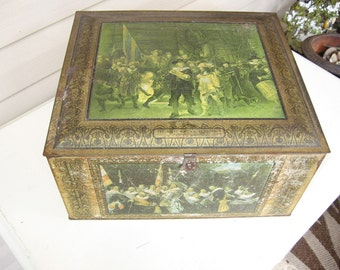 Metal Box with Rembrandt painting details
