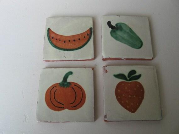 Pepper Pumpkin Watermelon Strawberry Tiles