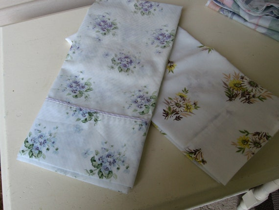 Pair of vintage pillow cases