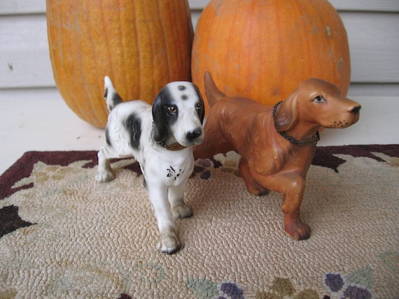 Dog Figurines English and Irish Setters