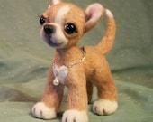 Handmade Needle Felted Custom Animal Miniature - Portrait of Your Beloved Pet