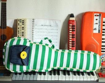 Concert ukulele case - Wednesday Garden -- Green Stripe Ukulele Bag - Ready to ship