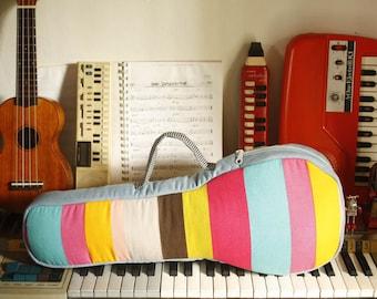 Rainbow stripes - The Colorful Stripe Ukulele Bag (soprano size) - Made to order