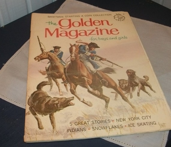 January 1968 the Golden Magazine for Boys and Girls   excellent condition