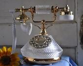 Vintage Glass Telephone
