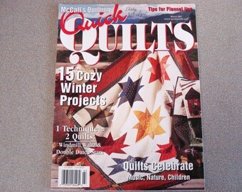 McCalls Quilting Quilt Book March 2001 Quick Quilts.