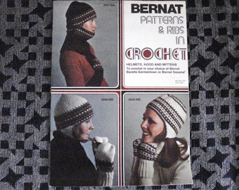Vintage BERNAT Crochet Leaflet Patterns And Ribs Issue 200.