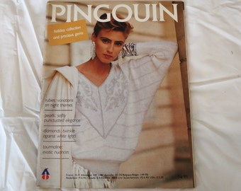 Vintage PINGOUIN Knitting 20 Pattern Magazine Issue 91 HOLIDAY COLLECTION.