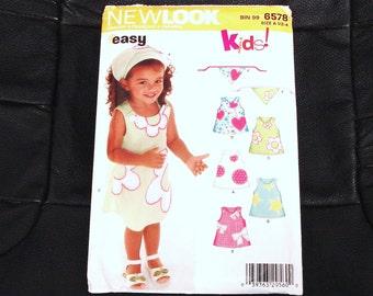 SIMPLICITY NEW LOOK Series Patterns 6578 Size A Girl's Summer Dress.