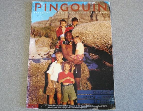 Vintage PINGOUIN Knitting Pattern Book Childrens Spring