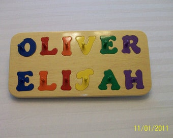 Hand crafted personalized wooden name puzzles - 2 Names