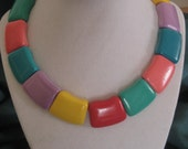 Colorful  Blast From The Past Necklace