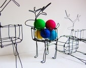 Deer Wire Basket Sculpture