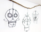 Day Of The Dead Skulls Wire Wall Hanging
