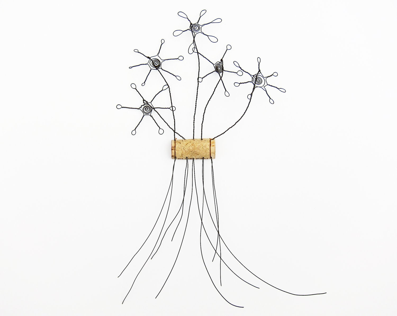 Items Similar To Wire Flower Wall Art Sculpture On Etsy