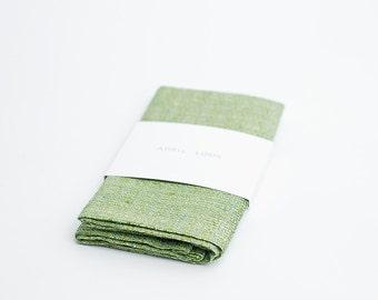 Pocket square, lime green