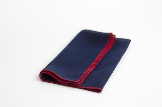 Navy blue pocket square