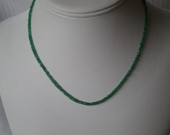 Gorgeous green Emerald Necklace graduated faceted gemstone Birthstone Colombian present mother or anniversary,