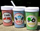 Personalized Sippy Cup with Straw - Graphic