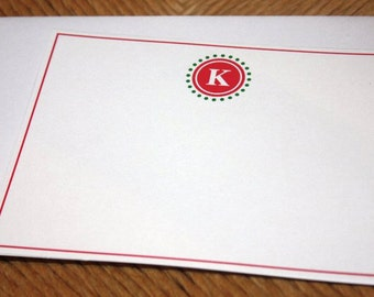 Initial Flat Card Stationery