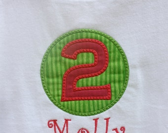 Birthday Applique Tee